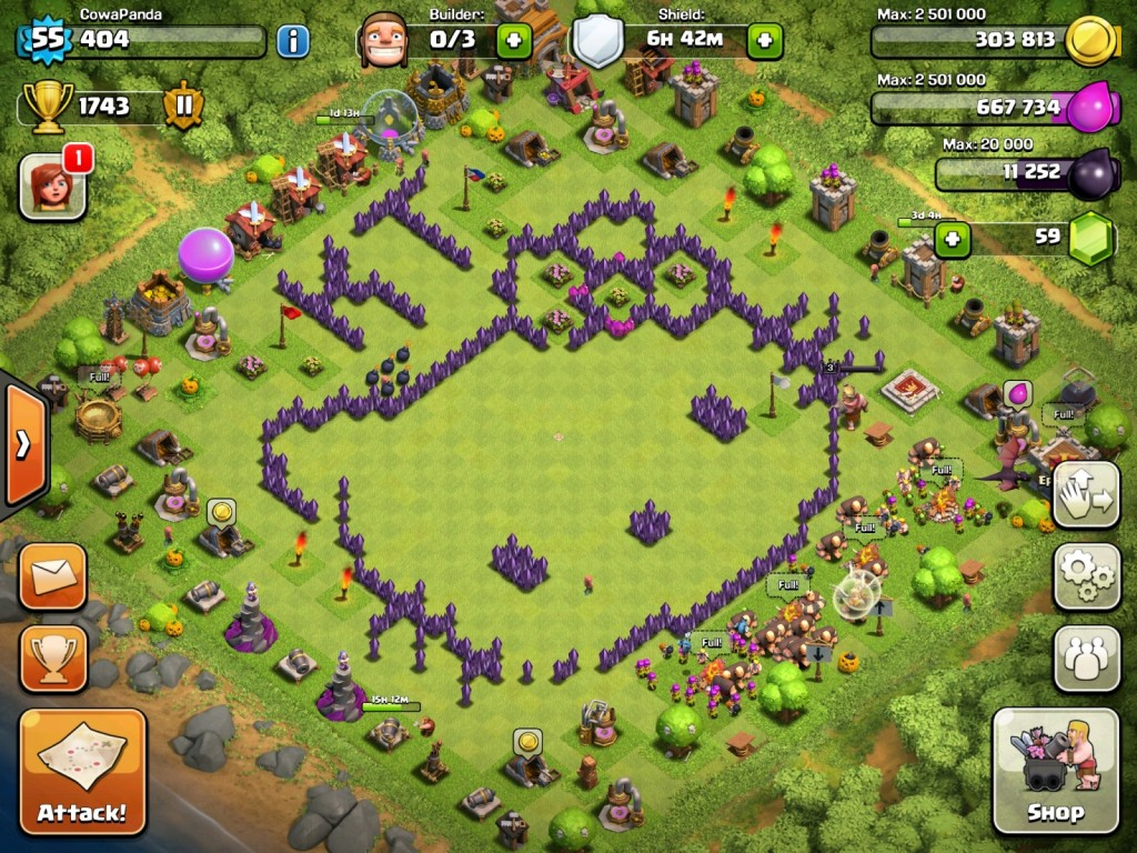 Top 10 Funny Clash of clan Base no 10