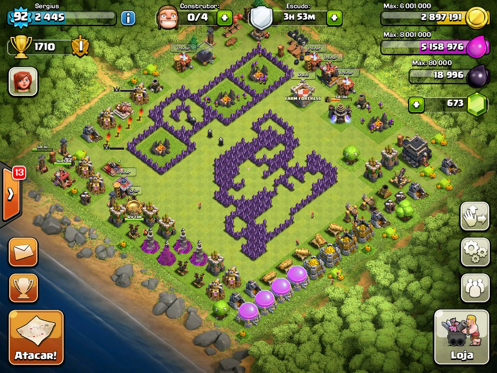 Top 10 Funny Clash of Clans Base no 7