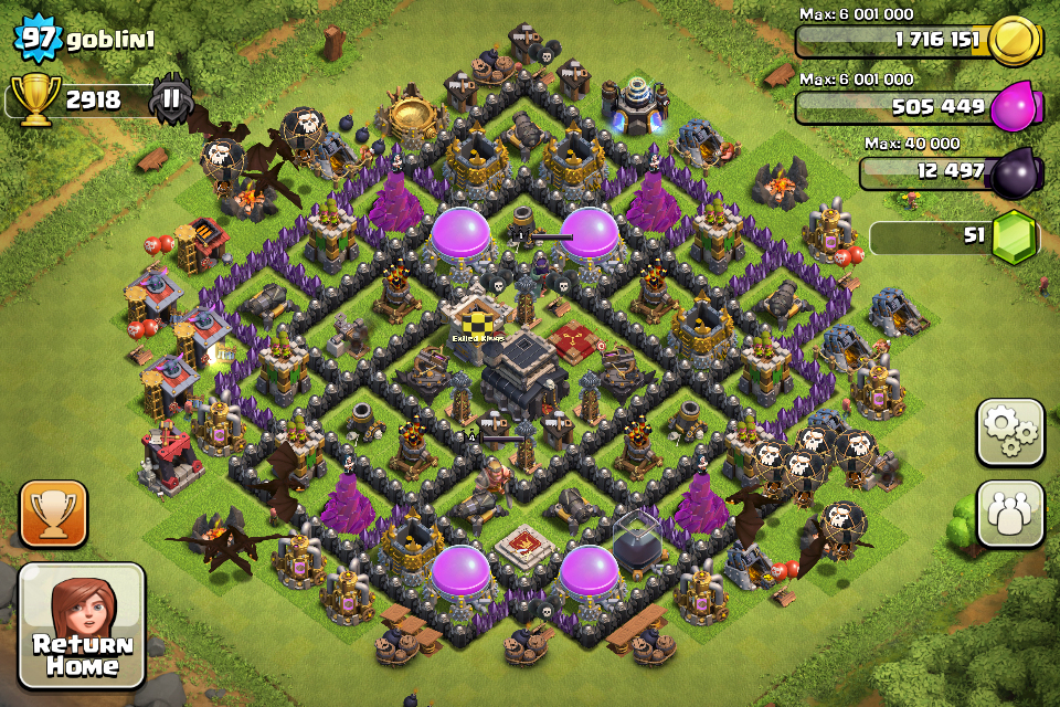 Clash Of Clans Best Base Design Town Hall Level