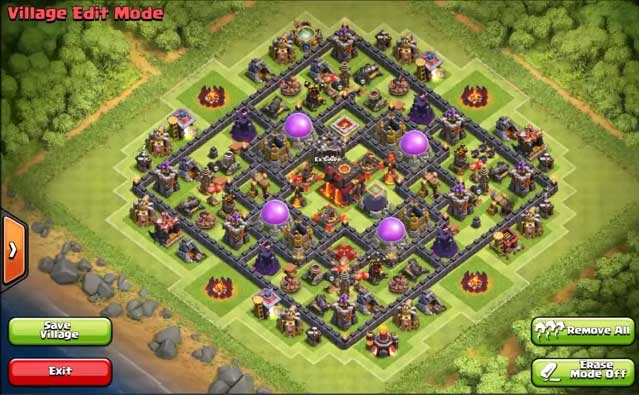 Best Clash Of Clans Town Hall Level 10 Defense Base Design 2