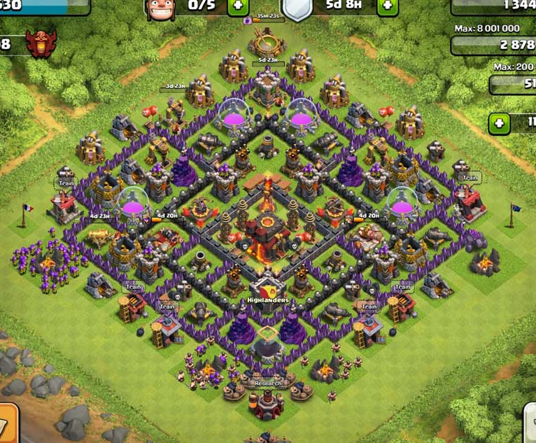 Best Clash Of Clans Town Hall Level 10 Defense Base Design 7
